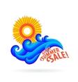sun wave ocean vector image