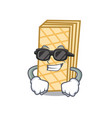 super cool waffle character cartoon style vector image
