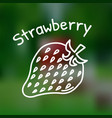thin line strawberry icon vector image vector image