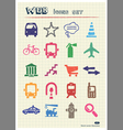 Transport and road signs urban web icons set vector image vector image