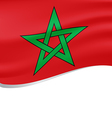 Waving flag of Morocco isolated on white vector image vector image