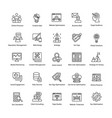 web and seo line icons vector image vector image