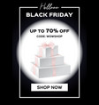 web banner black friday sale up to 70 percent vector image vector image