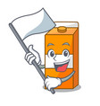 with flag package juice mascot cartoon vector image