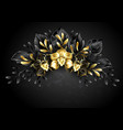 wreath black orchids vector image vector image