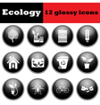 Set of ecological glossy icons vector image