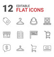 12 retail icons vector image vector image