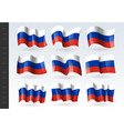 3d waving flag russia isolated on white vector image