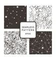 A set of four seamless patterns Stars vector image vector image