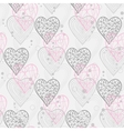 Abstract Hearts in gray tones vector image