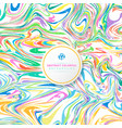 abstract wavy striped colorful bright ink painted vector image vector image