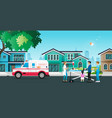 ambulance to receive patients vector image