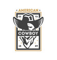 american cowboy vintage isolated label vector image vector image