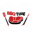 bbq time hand drawn typography poster vector image vector image