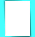 blank a4 white paper with shadow vector image vector image