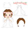 Bride Wedding Dress Costume vector image vector image