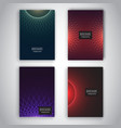 brochure templates with abstract designs vector image vector image