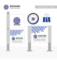 business banners ads design with logo and vector image