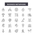 business metaphors line icons signs set vector image