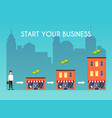 businessman starts his own business flat design vector image vector image