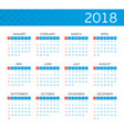 calendar on 2018 vector image vector image