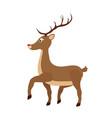 cartoon brown reindeer - christmas symbol vector image