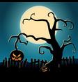 cartoon halloween dark template vector image vector image