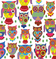 Cartoon owl pattern white background vector | Price: 1 Credit (USD $1)
