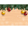 christmas background with detailed pine branches vector image vector image