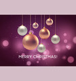 christmas blurred pink background with bauble vector image vector image
