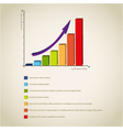 colorful diagram graph vector image vector image