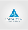 creative blue diamond triangle logo concept design vector image