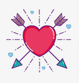 cute heart symbol vector image