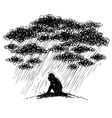 Depression and loneliness vector image