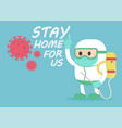 disease control experts coronavirus give advice vector image