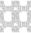 doodle seamless pattern for coloring book black vector image vector image