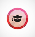 education circle pink triangle background icon vector image vector image