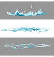 element water splashes animation frame set vector image