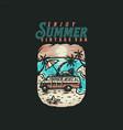 enjoy summer vintage van t shirt graphic design vector image
