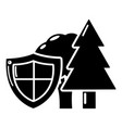 environment protection icon simple black style vector image vector image