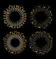 festive fireworks star sparkle sunburst round vector image vector image