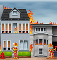 Fire and firefighters vector image