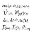 funny modern calligraphy of hispanic word vector image