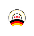 german flag retro stamp vector image vector image