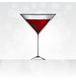 glass of red martini vector image
