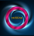 glowing neon bright ring abstract background vector image vector image