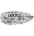 golf for beginners what makes a good golfer text vector image vector image