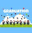 graduate kids background children wearing in vector image vector image