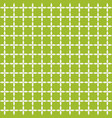 grid of white leafs on green background seamless vector image
