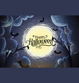 happy halloween background with full moon vector image vector image